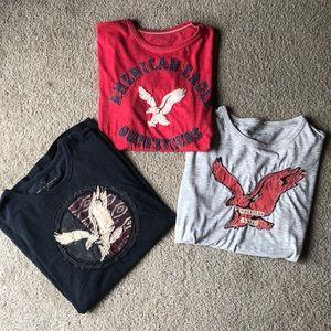 BUNDLE!! Three american eagle short sleeve shirts